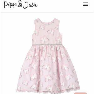 Pippa & Julie Girls Butterfly Dress (size 8) EUC